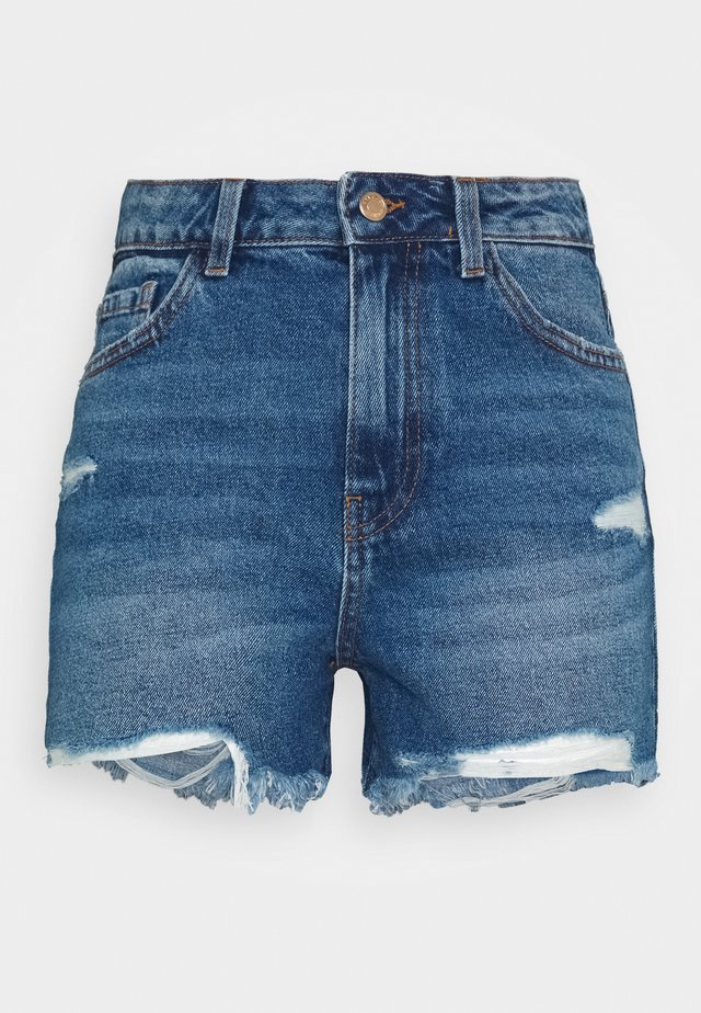 PCAVA DESTROY - Jeansshort - medium blue denim