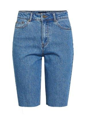 LONGLINE - Shorts di jeans - medium blue denim
