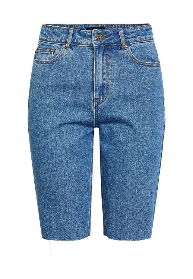 LONGLINE - Szorty jeansowe - medium blue denim