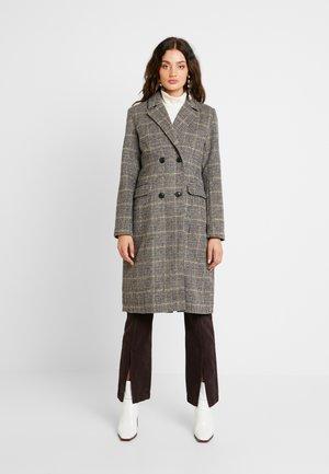 Classic coat - chocolate plum/black