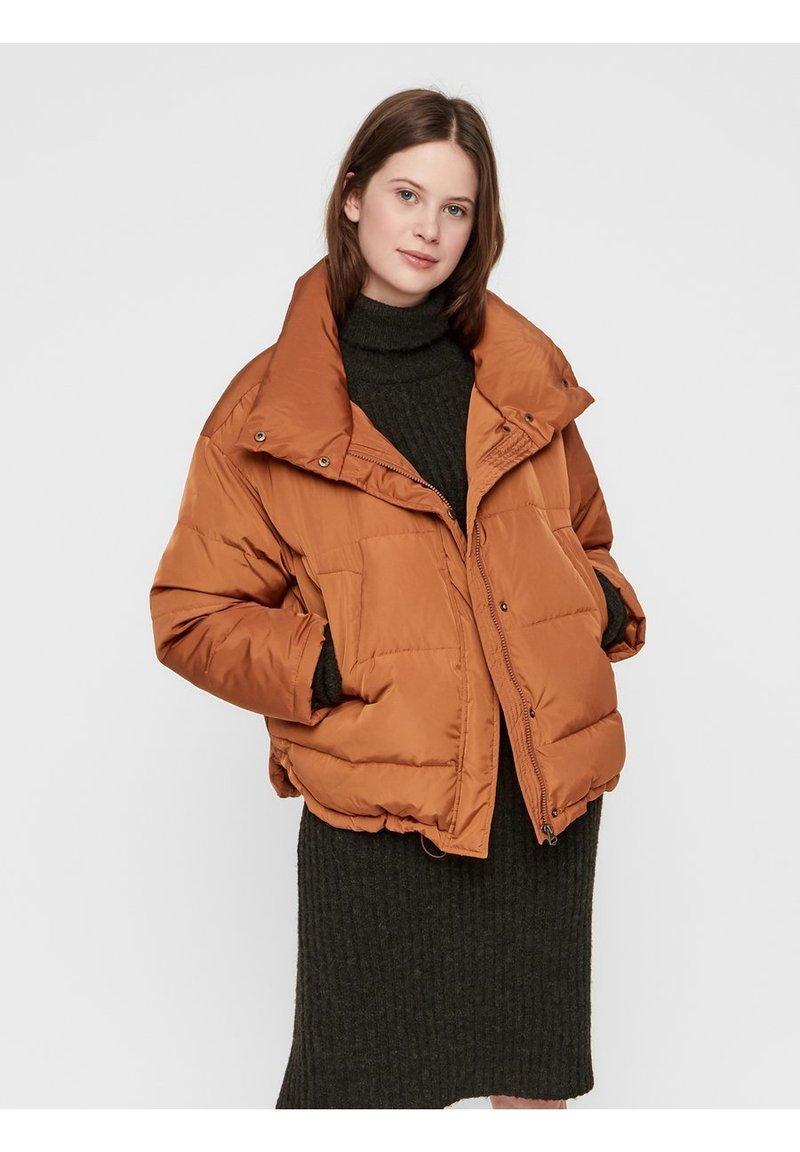 Pieces - Down jacket - mocha bisque