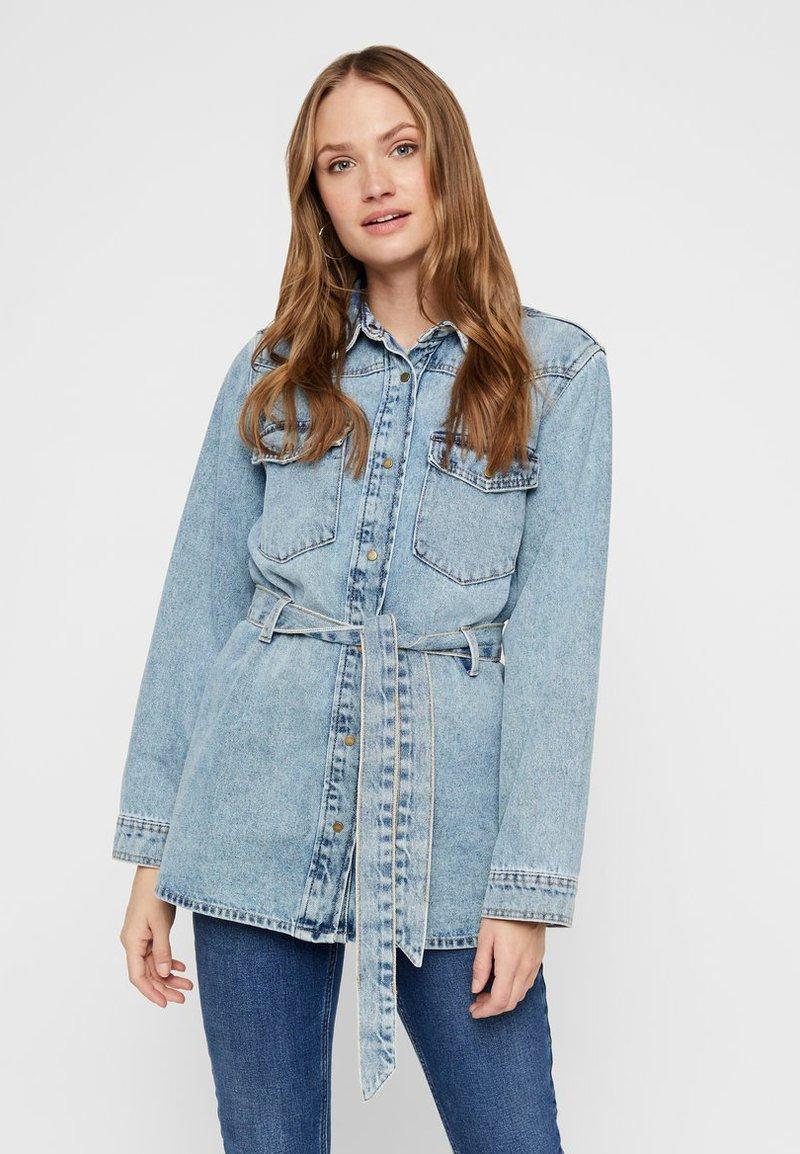 Pieces - Veste en jean - light blue denim