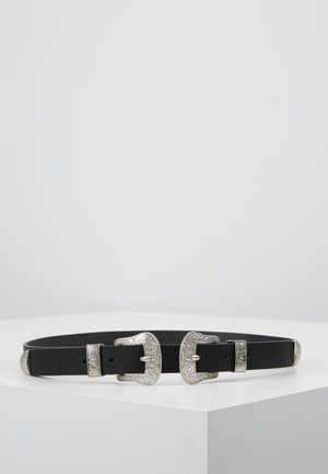 PCLARAH WAIST BELT - Waist belt - black/silver-coloured