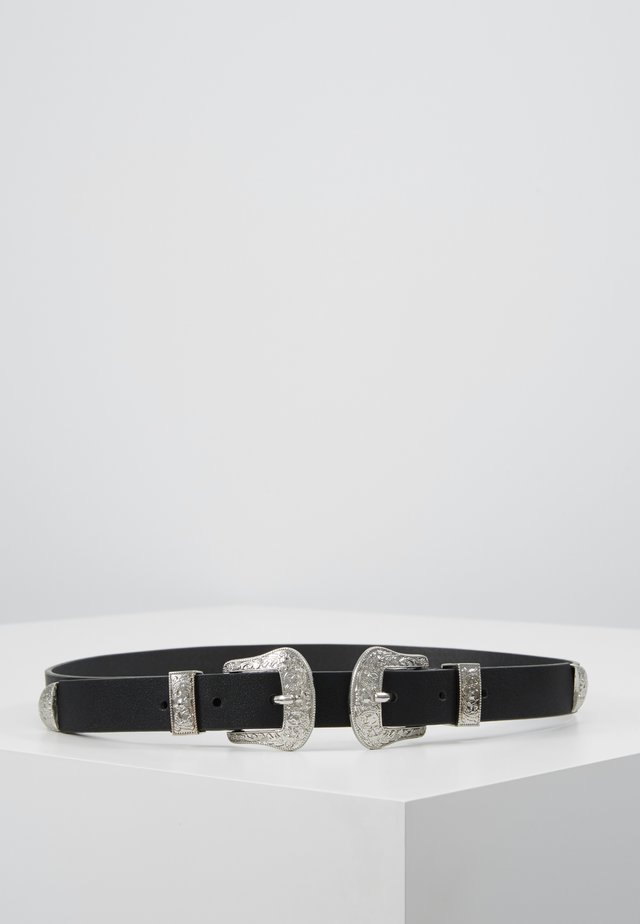 PCLARAH WAIST BELT - Ceinture taille haute - black/silver-coloured