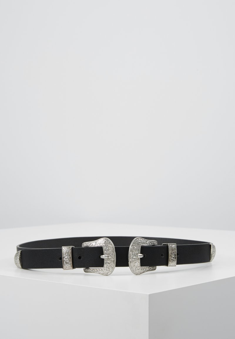 Pieces - PCLARAH WAIST BELT - Waist belt - black/silver-coloured