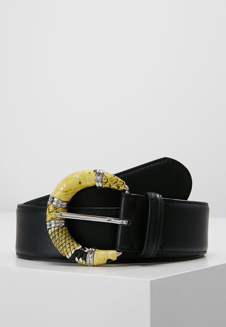 Pieces - PCCARI BELT - Belt - black/yellow