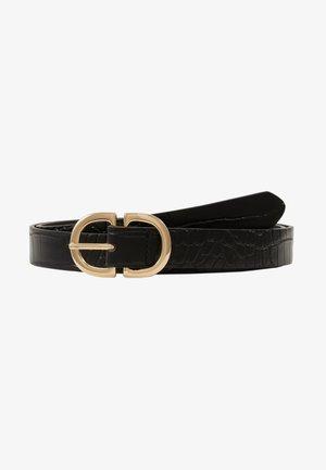 PCDUVA BELT - Belt - black/croco/gold-coloured