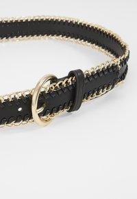 Pieces - PCANNABEL JEANS BELT - Cinturón - black/gold-coloured - 2