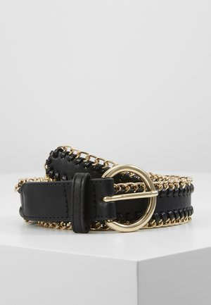 PCANNABEL JEANS BELT - Gürtel - black/gold-coloured