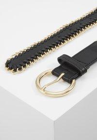 Pieces - PCANNABEL JEANS BELT - Cinturón - black/gold-coloured - 3