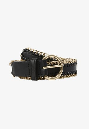 PCANNABEL JEANS BELT - Pásek - black/gold-coloured
