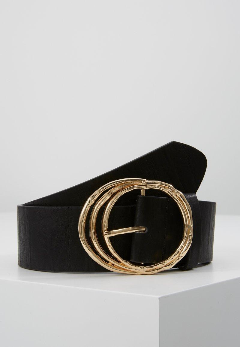 Pieces - PCDEMA WAIST BELT  - Tailleriem - black/gold-coloured
