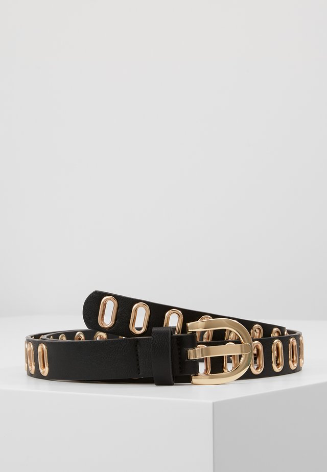 PCADA JEANS BELT - Riem - black/gold-coloured