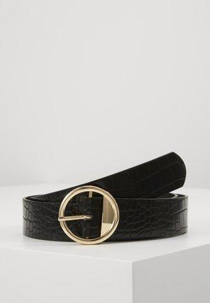 PCDAVINA BELT - Pásek - black/gold-coloured