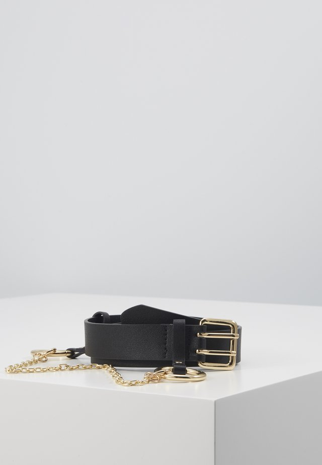 PCPERNILLE WAIST BELT - Pásek - black/gold-coloured
