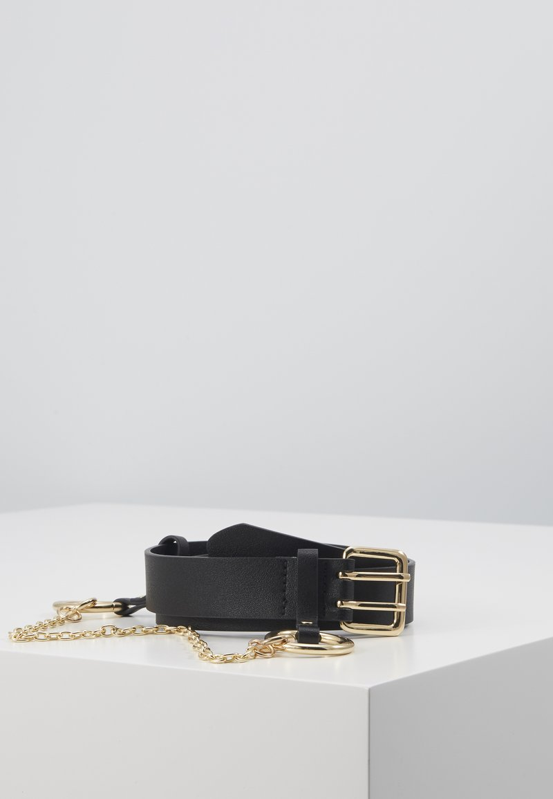 Pieces - PCPERNILLE WAIST BELT - Midjebelte - black/gold-coloured