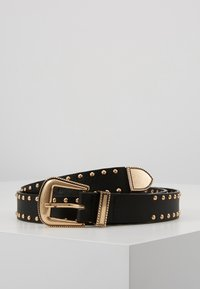 Pieces - PCHOLLIA JEANS BELT KEY - Riem - black/gold-coloured - 0