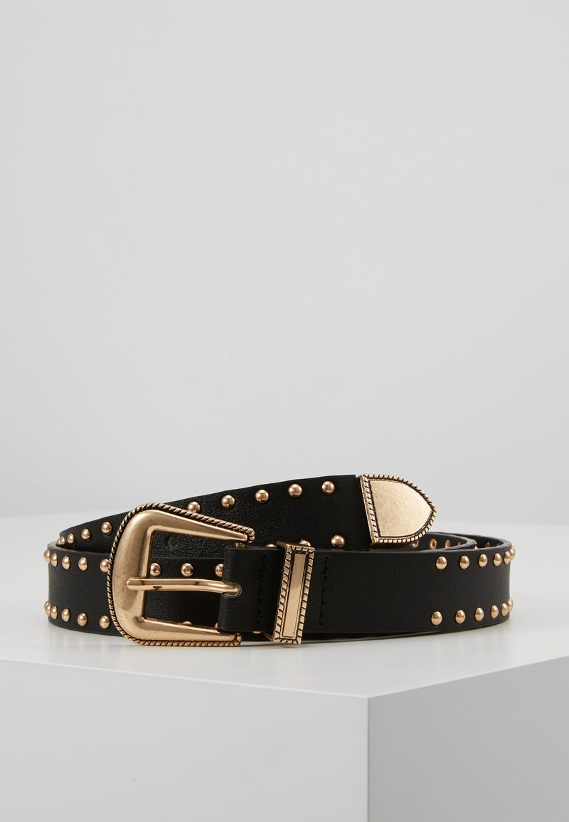 Pieces - PCHOLLIA JEANS BELT KEY - Riem - black/gold-coloured