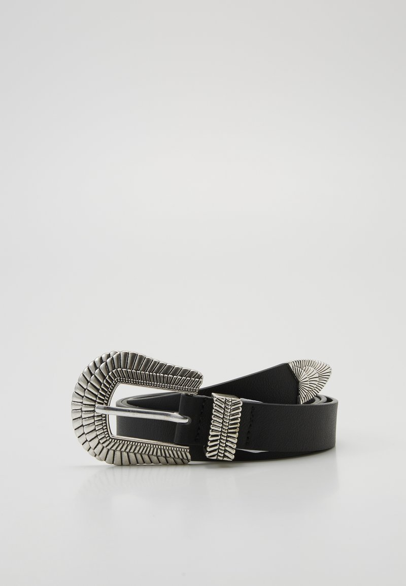 Pieces - PCMADELINNA JEANS BELT - Riem - black/silver-coloured