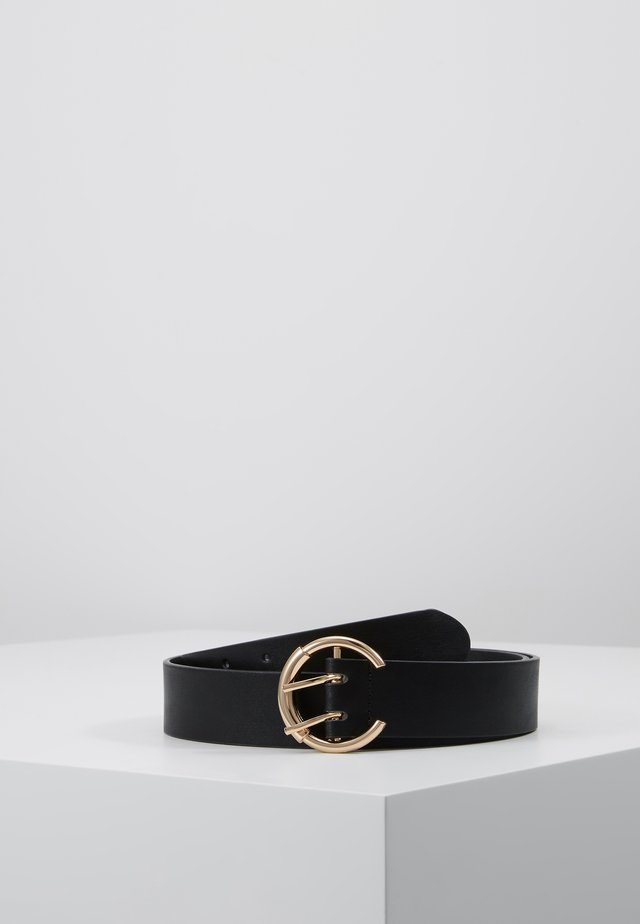 PCOFELIA BELT - Pásek - black/gold-coloured
