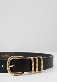 Pieces - PCCHRISTINA JEANS BELT - Riem - black/gold-coloured - 2