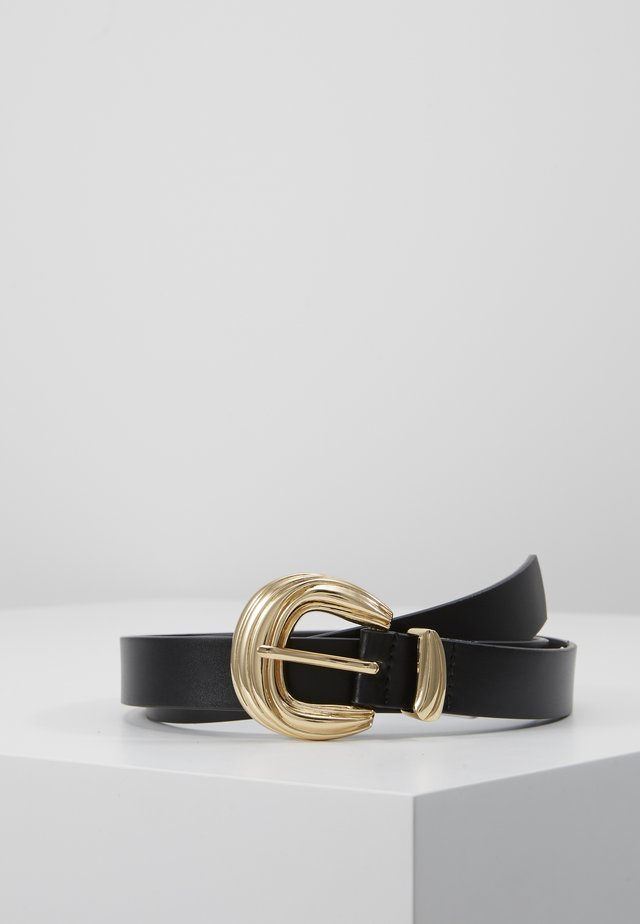 PCCAMILLO BELT - Pásek - black/gold-coloured