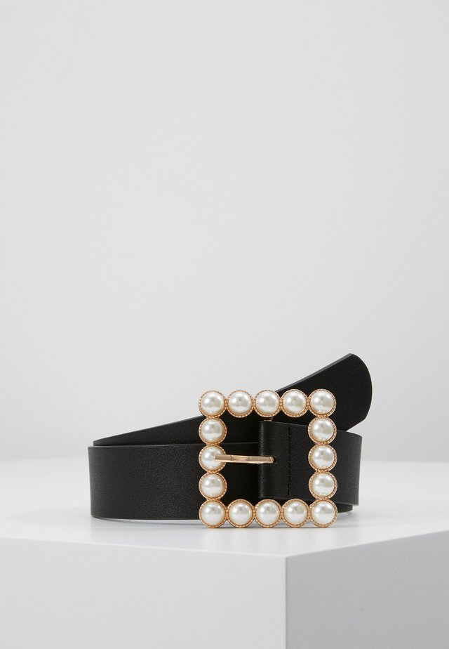 PCOLLIA WAIST BELT - Pásek - black/gold-coloured