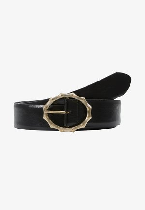 PCBAMBI JEANS BELT - Belt - black/gold-coloured