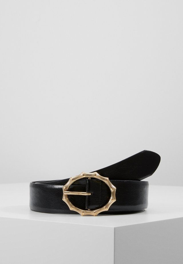 PCBAMBI JEANS BELT - Riem - black/gold-coloured