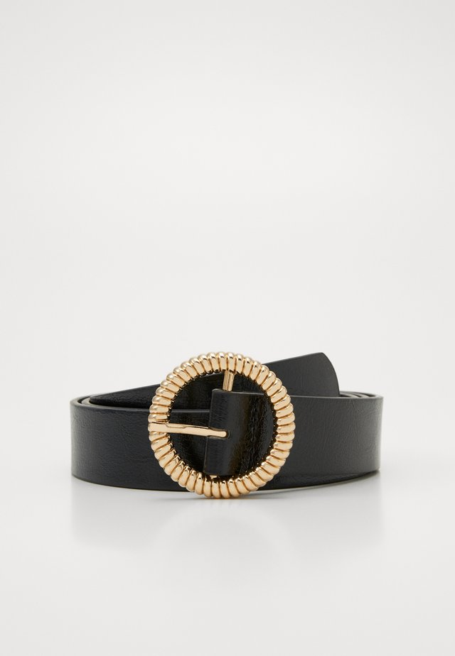 PCWANDY BELT - Pasek - black/gold-coloured