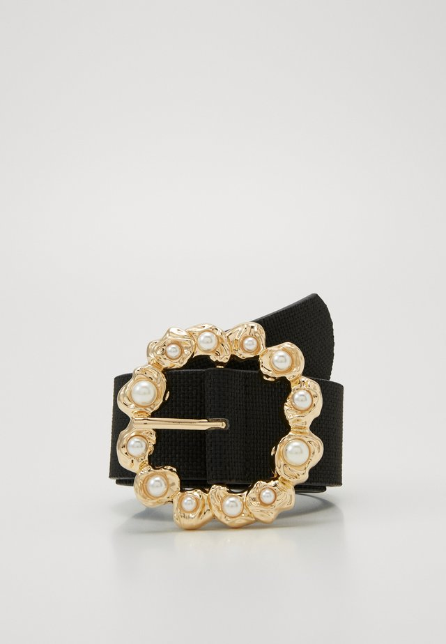 PCSOFIA WAIST BELT - Pásek - black/gold-coloured