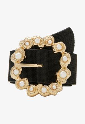 PCSOFIA WAIST BELT - Waist belt - black/gold-coloured
