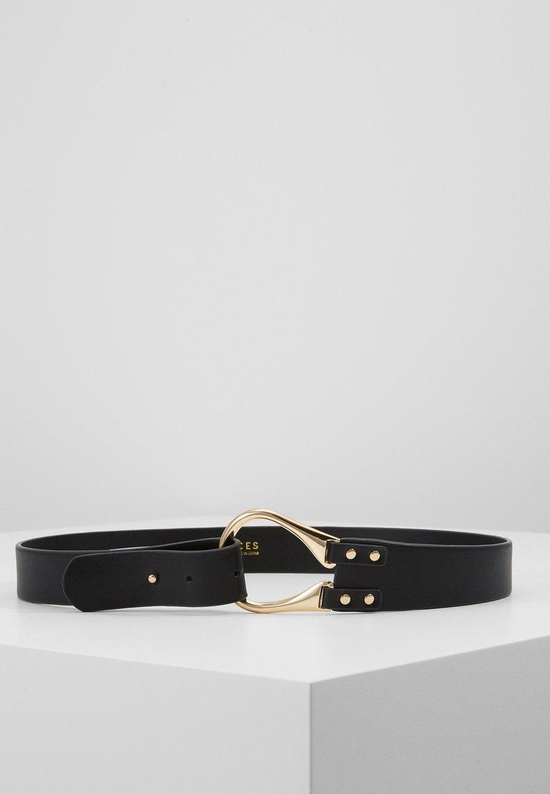 Pieces - PCFLORINNA WAIST BELT - Waist belt - black/gold-coloured