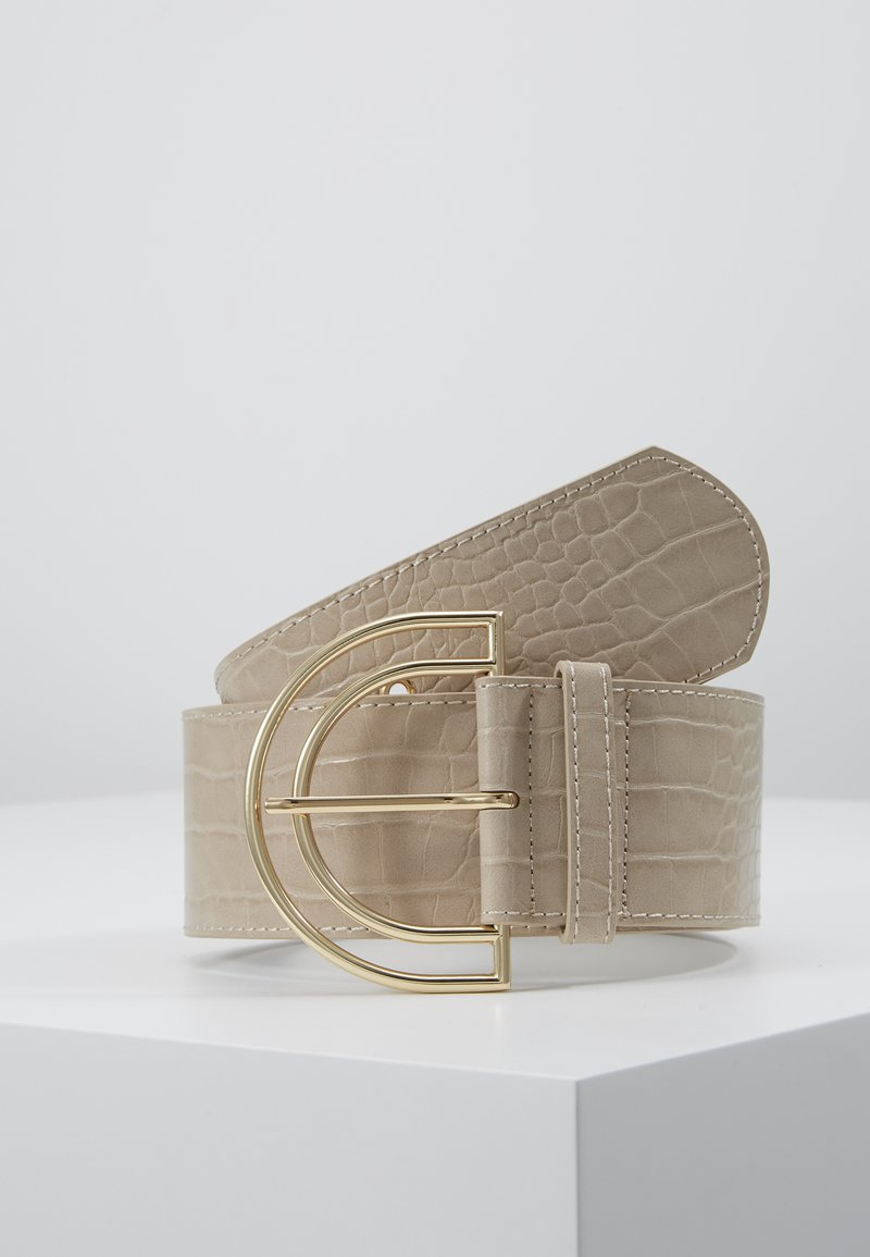 Pieces - PCBENEDICTE WAIST BELT - Pásek - beige/gold-coloured