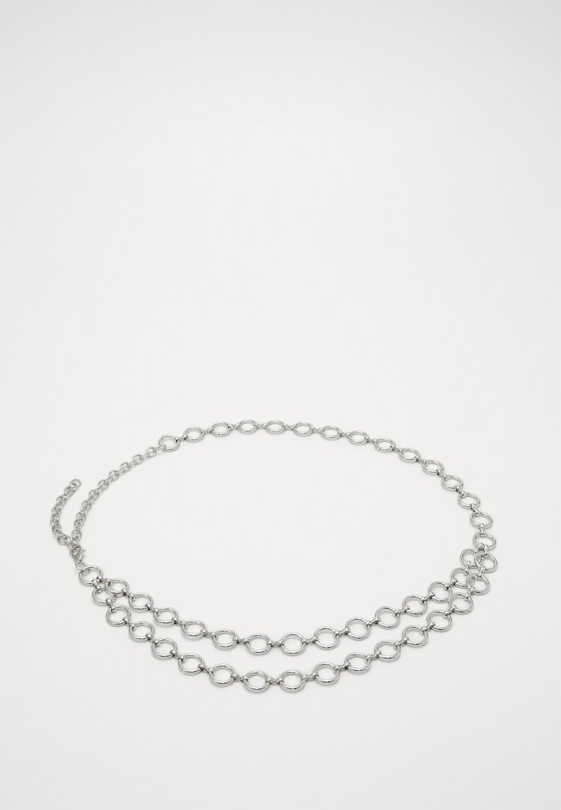 Pieces - PCNORA WAIST CHAIN BELT KEY - Pásek - silver-coloured