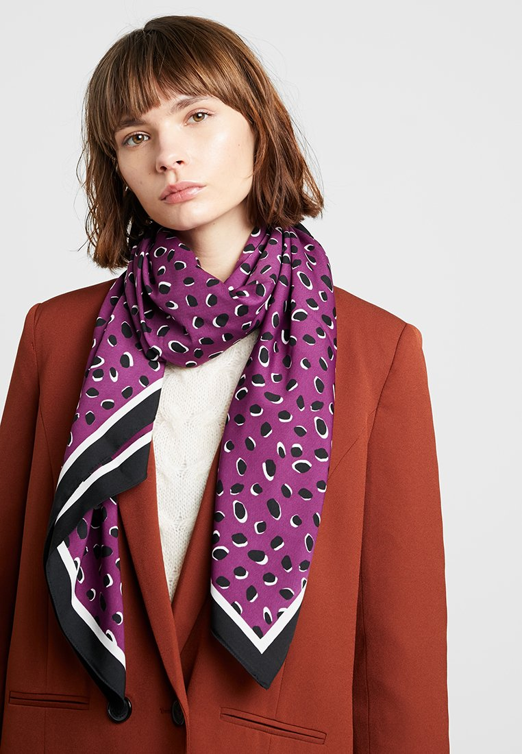 Pieces - PCSHANNON SQUARE SCARF - Foulard - dark purple
