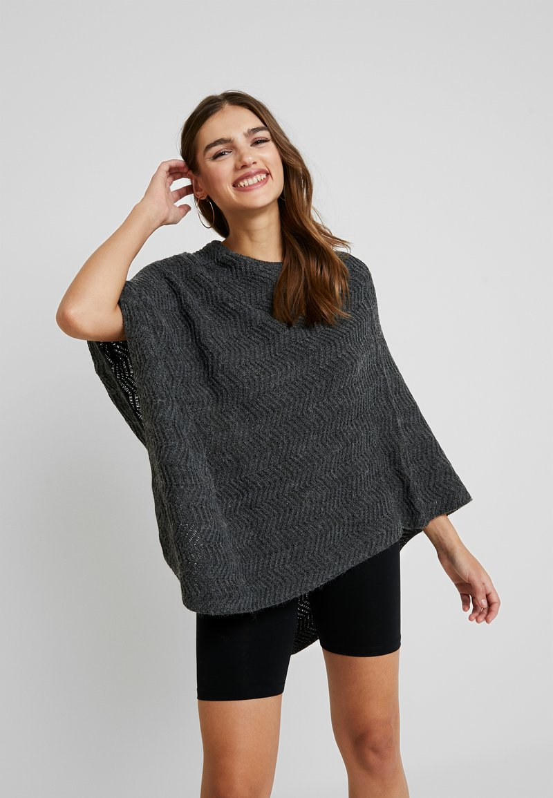 Pieces - Cape - dark grey melange