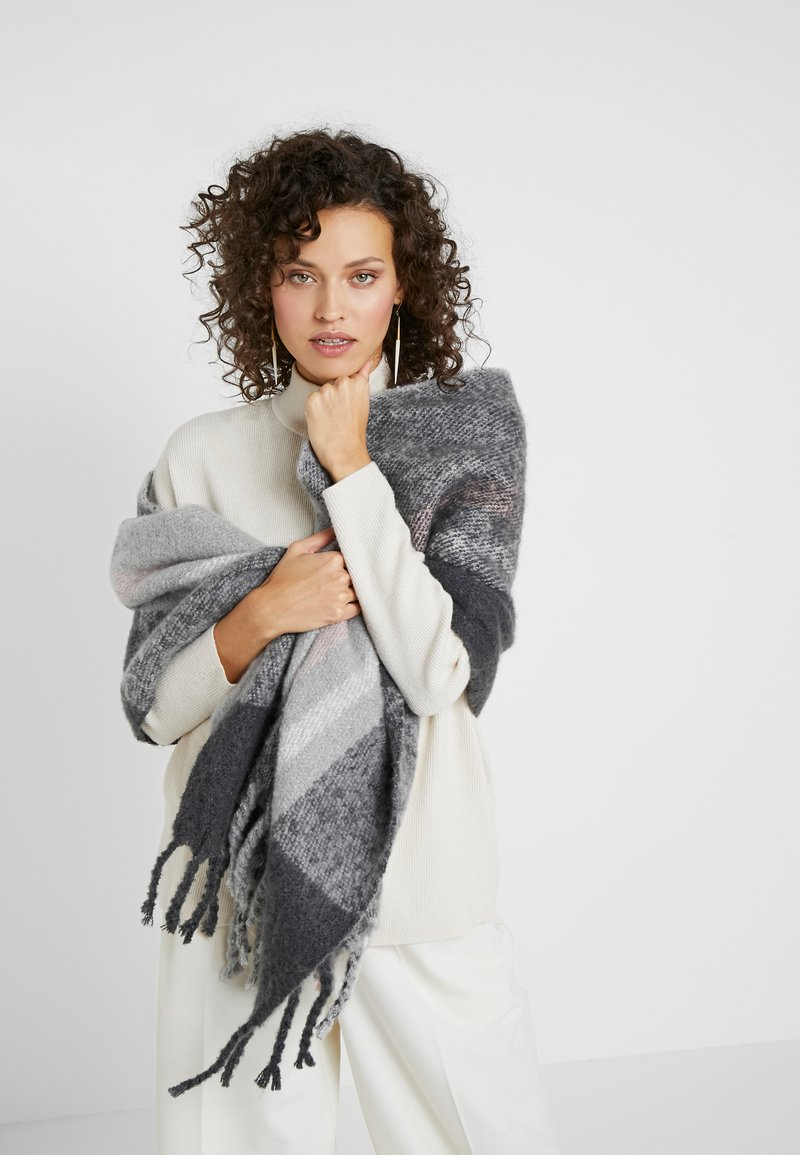 Pieces - Scarf - dark grey melange