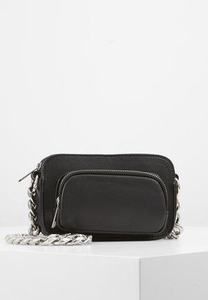 PCEMSA CROSS BODY - Across body bag - black/silver