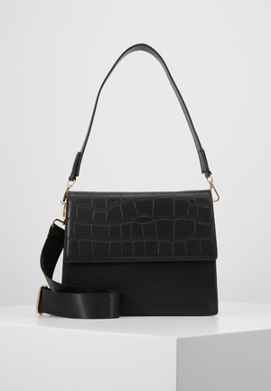 CHRIS CROSS BODY - Käsilaukku - black/gold