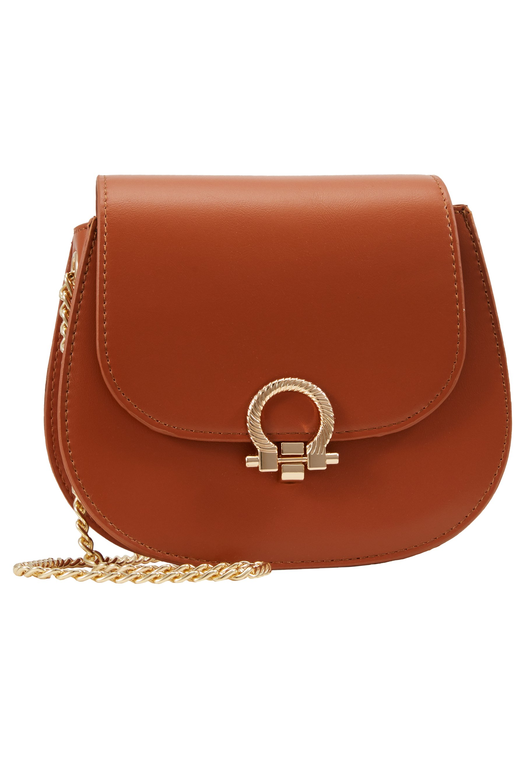 Pieces Pchollie Cross Body D2d - Sac Bandoulière Cognac/gold
