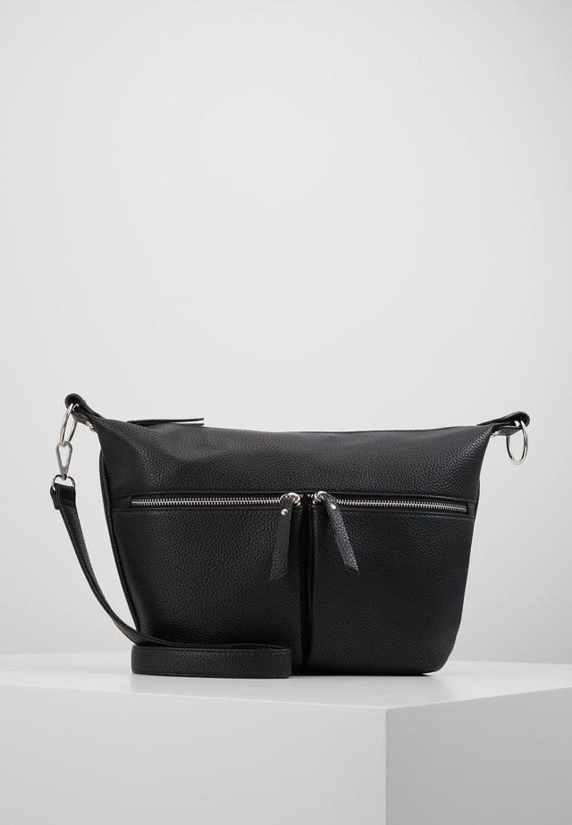 PCFILIZ DAILY BAG D2D - Olkalaukku - black/silver