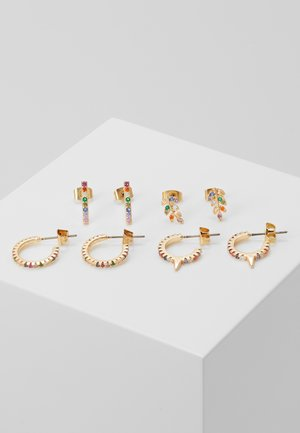 PCFAB HOOP EARRINGS 4 PACK - Øredobber - gold-coloured/multi