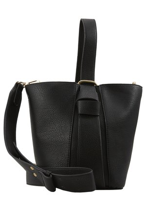 PCBEA SHOPPER D2D - Across body bag - black/gold