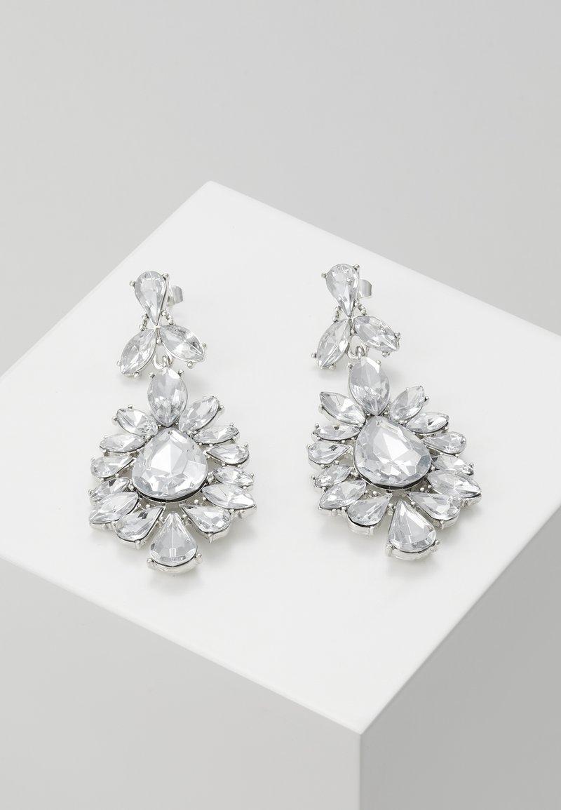 Pieces - PCGLITZ EARRINGS - Pendientes - silver-coloured