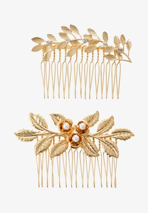 PCCOMB HAIR PIN 2 PACK - Hair styling accessory - gold-coloured/clear-mop
