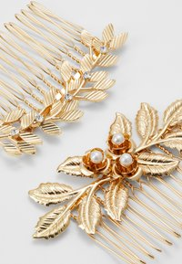 Pieces - PCCOMB HAIR PIN 2 PACK - Håraccessoar - gold-coloured/clear-mop - 2