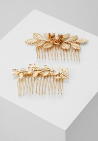 Pieces - PCCOMB HAIR PIN 2 PACK - Håraccessoar - gold-coloured/clear-mop - 0