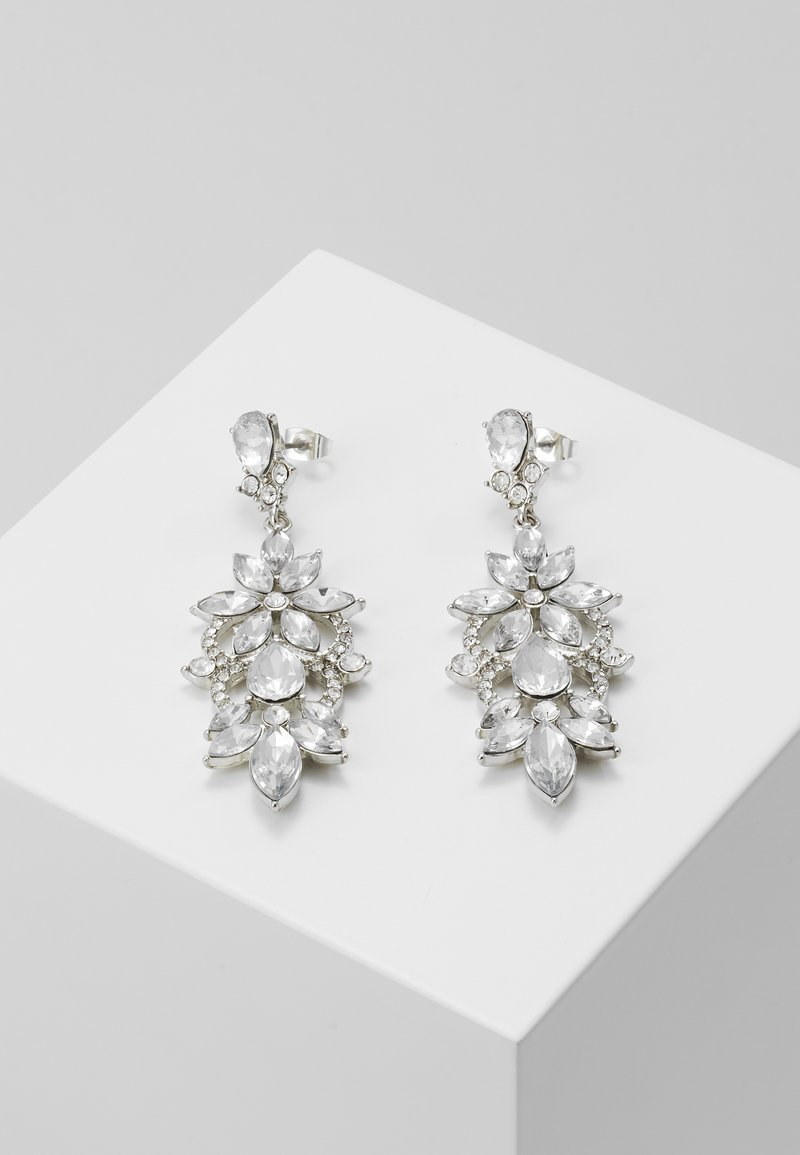 Pieces - PCFLO EARRINGS - Earrings - silver-coloured