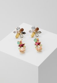 Pieces - PCFLAME EARRINGS 2 PACK - Øredobber - gold coloured/multi - 0